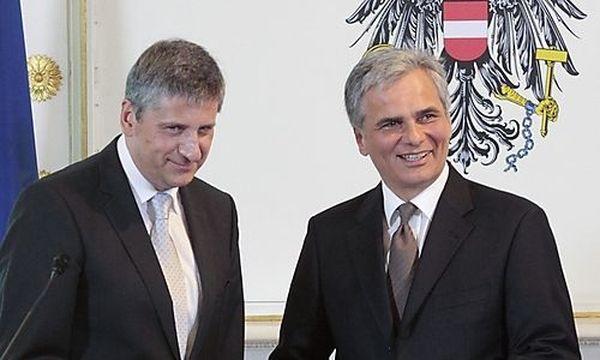 Spindelegger, Faymann / Bild: (c) REUTERS (HERWIG PRAMMER)