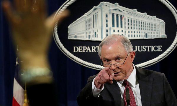 Jeff Sessions bei einer Pressekonferenz in Washington / Bild: REUTERS
