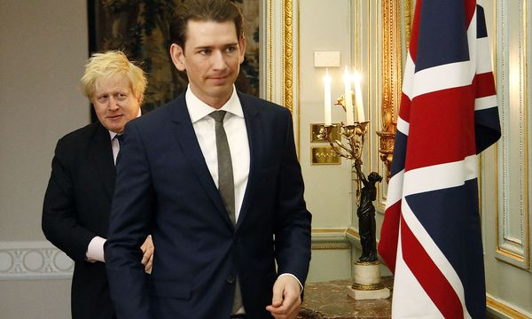 "Boris Johnson und sein ""friend Sebastian"" trafen in London aufeinander. / Bild: (c) APA/AUSSENMINISTERIUM/DRAGAN TATIC (DRAGAN TATIC)"