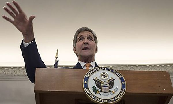 John Kerry im ex-imperialen Wien / Bild: AFP