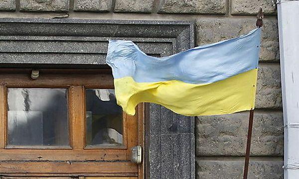 Archivbild: Ukrainische Flagge / Bild: (c) EPA (Sergey Dolzhenko)
