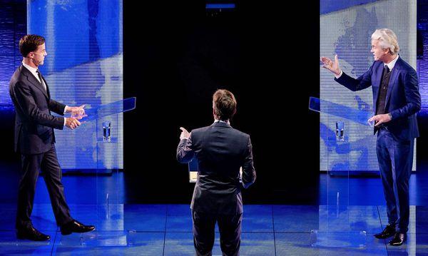 Rutte und Wilders im TV-Duell / Bild: (c) APA/AFP/ANP (REMKO DE WAAL)