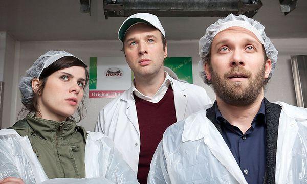 Nora Tschirner, Stephan Grossmann, Christian Ulmen / Bild: ORF
