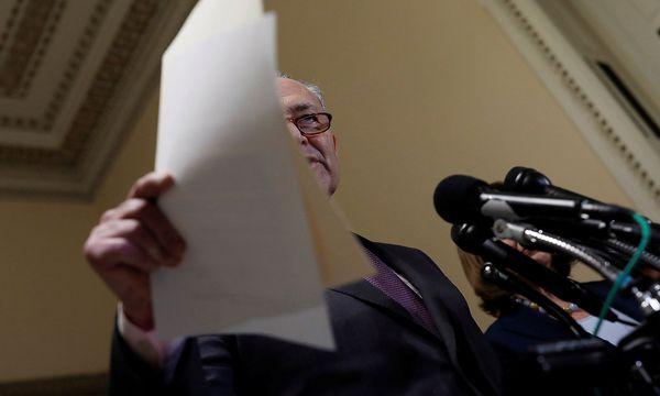 Der Fraktionschef der Deokraten im Senat, Chuck Schumer, will den Vorschlag der Republikaner im Senat verhindern. / Bild: (c) REUTERS (AARON P. BERNSTEIN)