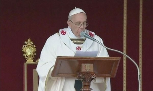 Feierliche Amtseinfuehrung Papst Franziskus /