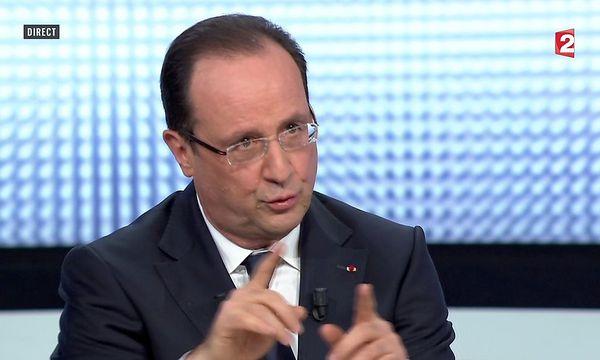 Hollande erklärte im TV sein Vorhaben.  / Bild: REUTERS