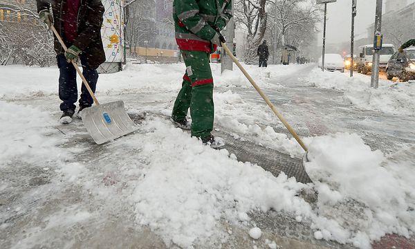 Der Gehsteig vor dem Haus muss frei von Schnee und Eis sein. / Bild: (c) APA/ROLAND SCHLAGER (ROLAND SCHLAGER)