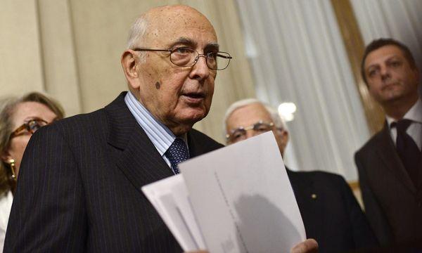 Giorgio Napolitano / Bild: (c) EPA (GUIDO MONTANI)