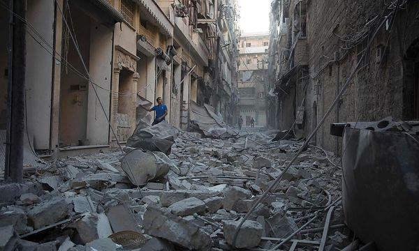 Zerstörung in Aleppo. / Bild: APA/AFP/KARAM AL-MASRI