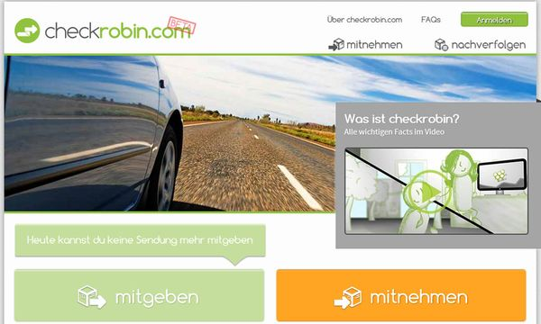 Neue Onlineplattform Checkrobin / Bild: (c) Checkrobin/ Screenshot