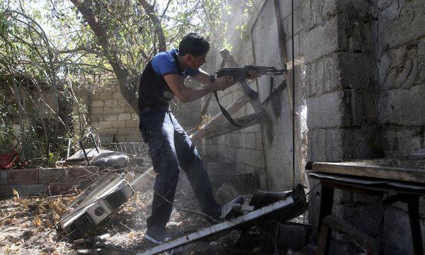 Rebellen Hoelle KerryLawrowPlan / Bild: (c) REUTERS (NOUR KELZE)