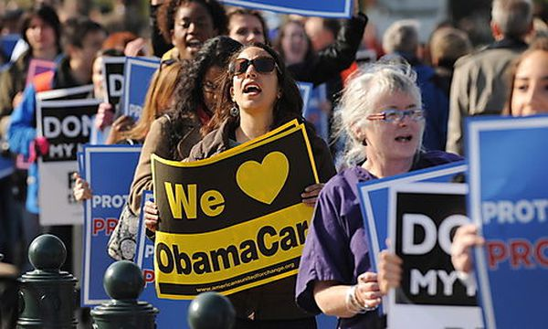 Proteste für eine Gesundheitsversicherung in den USA / Bild: (c) EPA (Michael Reynolds)