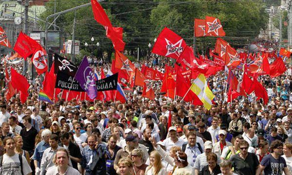 Protestmarsch in Moskau  / Bild: (c) Reuters/DENIS SINYAKOV