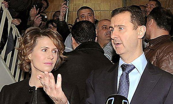Archivbild: Assad mit seiner Frau / Bild: (c) EPA (Sana / Handout)