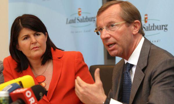 Gabi Burgstaller (SPÖ) und Wilfried Haslauer (ÖVP) / Bild: (c) APA (LPB / FRANZ NEUMAYR)