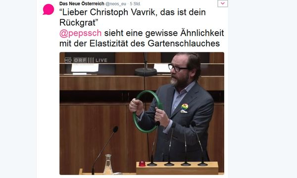 Bild: Screenshot/Twitter/@neos_eu