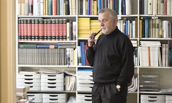 """Rüdiger Safranski: """"Der Wohlfahrtsstaat setzt den Nationalstaat voraus."""" / Bild: Robert Brembeck/Visum/picturedesk.com"""