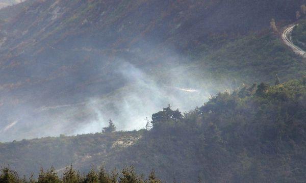 Türkei schießt syrischen Hubschrauber ab (im Bild Die Absturzstelle). / Bild: EPA