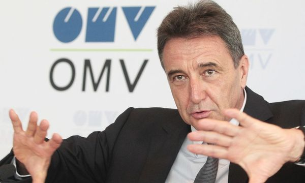 OMV CEO Roiss gestures during news conference in Vienna / Bild: REUTERS