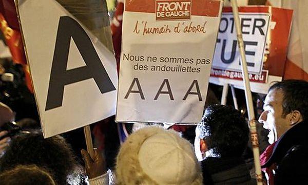 Proteste vor dem S&P-Büro in Frankreich / Bild: (c) REUTERS (Mal Langsdon)