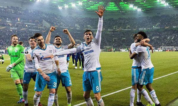 Schalker Jubel in Mönchengladbach / Bild: imago/Moritz Müller