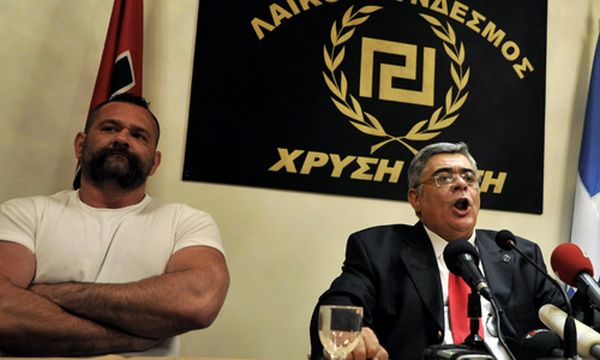 Nikos Michaloliakos (rechts im Bild) / Bild: (c) EPA (STR)
