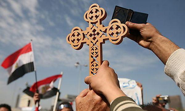 Kopten bei den Demos in Ägypten / Bild: (c) EPA (Amel Pain)