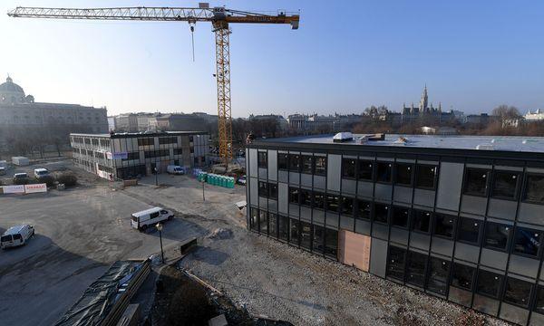 Büropavillons als Ausweichquartier / Bild: APA/ROLAND SCHLAGER