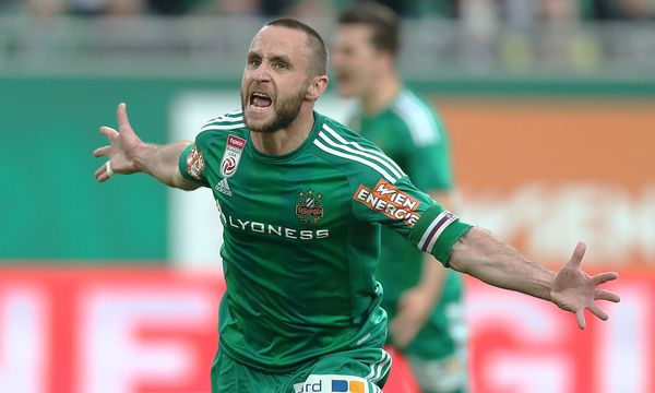 Er ließ die grün-weißen Herzen höher schlagen: Steffen Hofmann erzielte für Rapid zwei Tore. / Bild: GEPA pictures