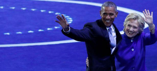 US-Präsident Barack Obama und die frühere Außenministerin Hillary Clinton / Bild: Reuters