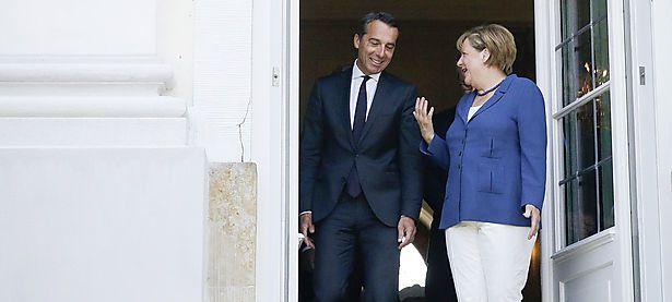 Bundeskanzler Christian Kern (SPÖ) traf am Samstag die deutsche Kanzlerin, Angela Merkel. / Bild: APA/BKA/ANDY WENZEL