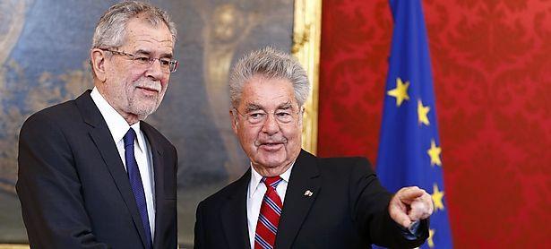 Van der Bellen bei Fischer / Bild: (c) Reuters