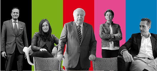 Die Akteure: Manfred Juraczka, Maria Vassilakou, Michael Häupl, Beate Meinl-Reisinger und Heinz-Christian Strache (v. l.). / Bild: (c) Clemens Fabry; Montage: Die Presse