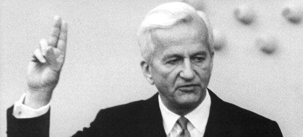 Im Plenarsaal des Deutschen Bundestages in Bonn leistet Richard von Weizsäcker (CDU) am 01.07.1984 seinen Eid als Bundespräsident.  / Bild: APA/dpa (Egon Steiner)