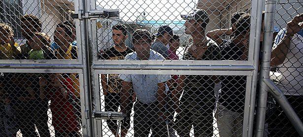 Ein Flüchtlingslager auf der griechischen Insel Lesbos. / Bild: (c) REUTERS (ALKIS KONSTANTINIDIS)