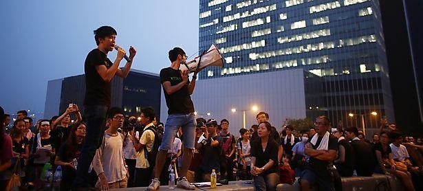 Die Demonstranten in Hongkong lassen sich von der Staatsmacht nicht einschüchtern / Bild: REUTERS