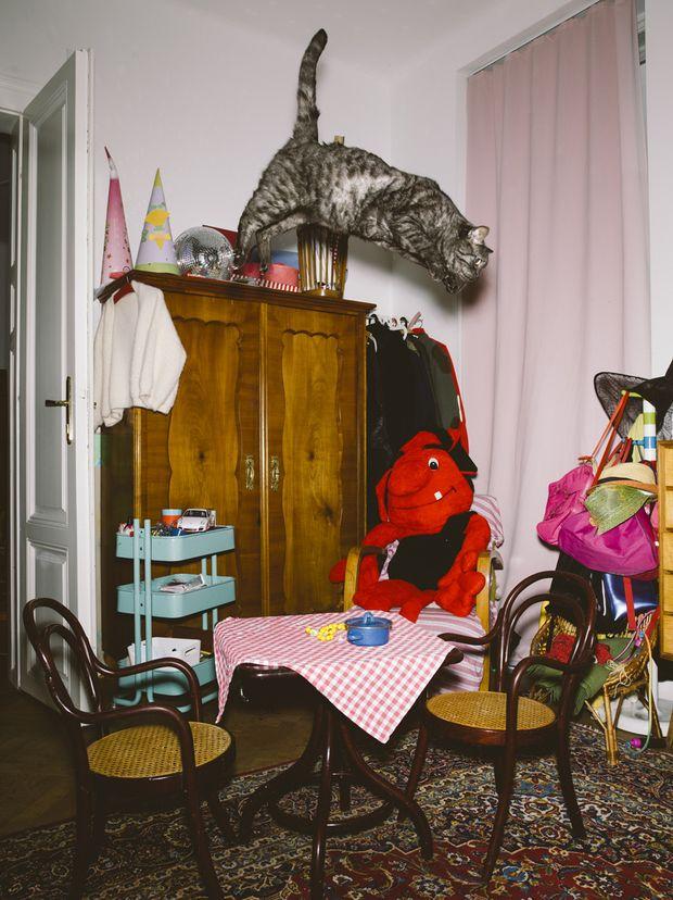 fotografie katzen die durchs zimmer fliegen. Black Bedroom Furniture Sets. Home Design Ideas