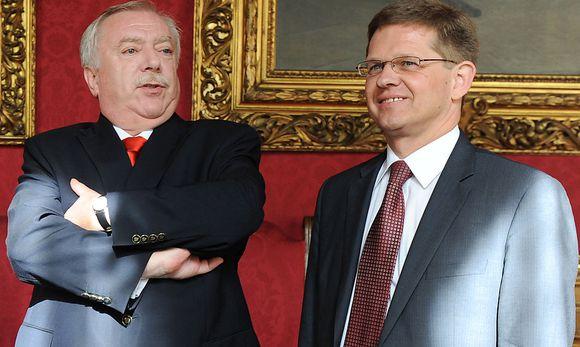 Ein Bild aus anderen Zeiten. Im Jahr 2008 übernahm Christian Deutsch die Parteigeschäftsführung der Wiener SPÖ untermanager der Wiener SPÖ unter Bürgermeister Michael Häupl (li.).